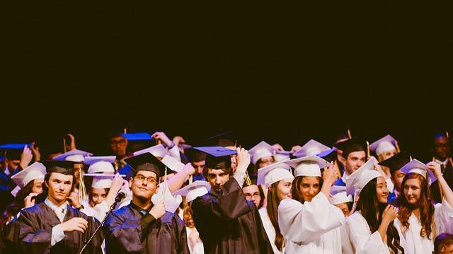 Absolventen an der Universität
